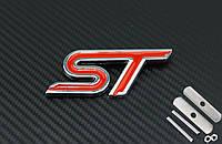 Эмблема решетки радиатора FORD ST красная
