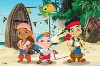 Печать съедобного фото - Формат А4 - Вафельная бумага - Джейк и пираты №3