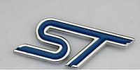 Эмблема кузова FORD ST синяя