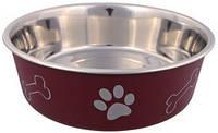 Trixie TX-25241 миска металлическая на резине с пластиковым покрытием  для собак мелких пород