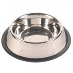 Trixie TX-24853 миска для собак металлическая на резине 0,9л /ø 17 cm