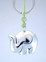 """Брелок для ключей и телефона серебряный """"Слон"""""""