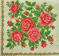 """Салфетка для декупажа """"Розы"""", размер 33*33 см, трехслойная"""
