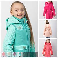 Детское  демисезонное пальто на девочку  Кокетка