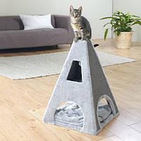"""Когтеточка,дряпка Trixie TX-43371 дом-башня для кота """"Camilo"""" 70см,серый"""