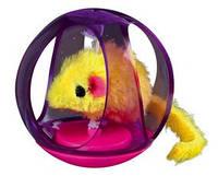 Trixie TX-4090 игрушка для кошек  Мышь в шаре с погремушкой