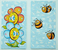 "Салфетка для декупажа""Цветы, пчелы"", размер 33*33 см, трехслойная"