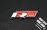 Эмблема решетки радиатора VW Volkswagen R-line красная
