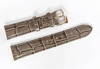 Ремешок кожаный Bros Cvcrro a Mano для наручных часов с классической застежкой, серый, 20 мм