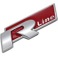 Эмблема кузова VW Volkswagen R-line красная