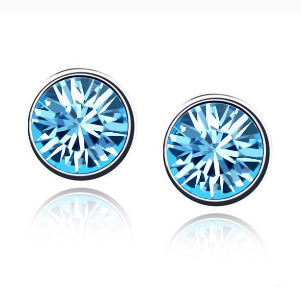 Серьги CZ Diamond (Голубой)