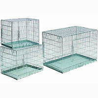 Papillon Клетка-переноска для собак металлическая с 2-мя дверьми 61*53*60см