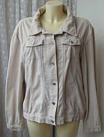 Куртка женская вельветовая жакет демисезонный бренд Street One р.50 6151а