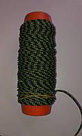 Линь TIGULLIO 1.7 ( 140 кг ) с кевларом зеленое сечение