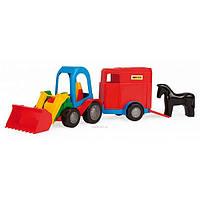 Машинка Трактор-багги с ковшом и прицепом wader 39229