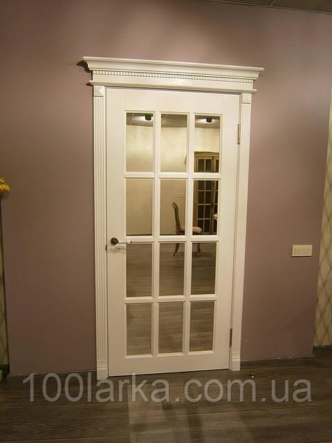 Двери М-3/12 деревянные белые из ясеня