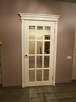 Двери межкомнатные деревянные белые из ясеня