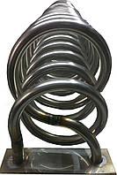 Нержавеющий змеевик для(теплообменника) в дымоход для твердотопливных котлов  1 400 мм мм
