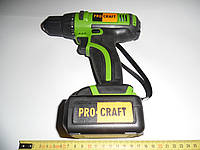 "Шуруповерт с двумя литиевыми аккумуляторами"" ProCraft Li"""