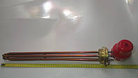 """Медный тен на латуневой гайке мощностью 12 кВт наружная резьба 2"""" (59мм) для электрокотла"""