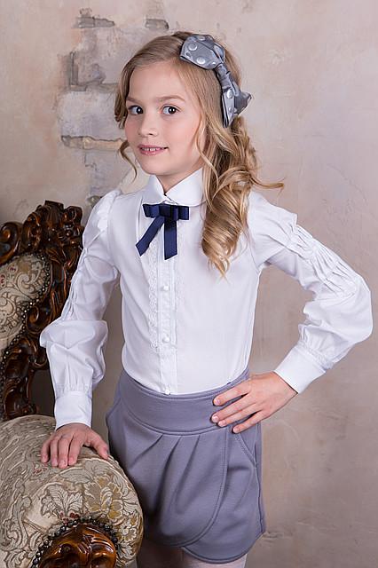 Нарядная школьная блуза для девочек