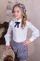 Нарядная школьная блуза для девочек, фото 1
