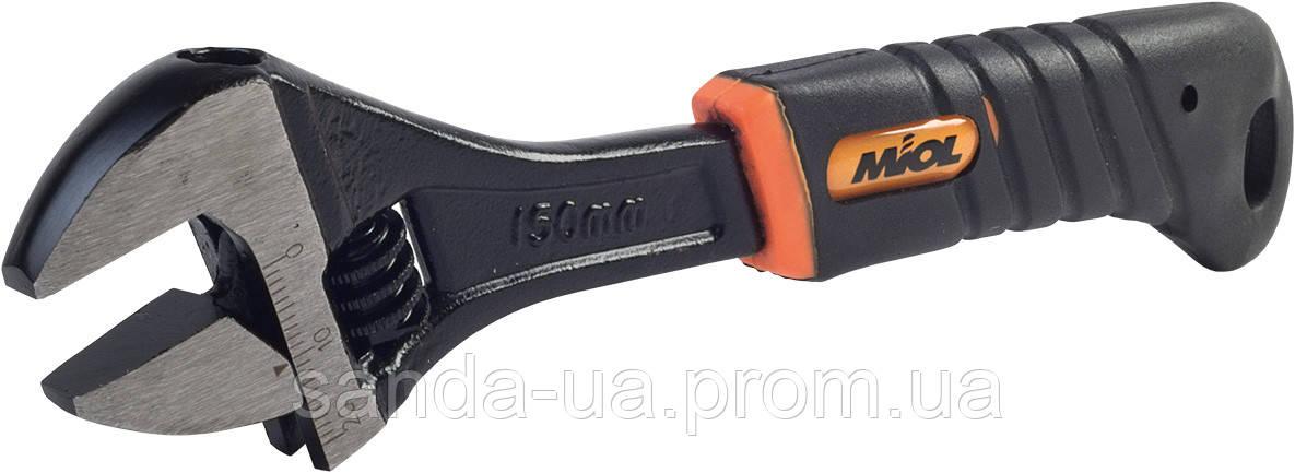 Ключ разводной 250мм, 0-29мм обрезиненная рукоятка (54-044)