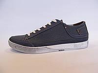 Мокасины мужские  Vanshoes джинсовые, синие (р.40)