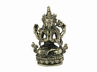 Статуя бронзовая - Ченрезиг (Авалокитешвара) 4,7 см white