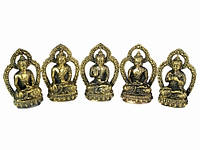 Статуя бронзовая - Пять Дхьяни Будд 4,5 см