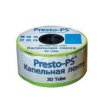 """Капельная лента """"Presto - 3D Tube"""" 1000м, расстояние капельниц 20 см, 8mil"""