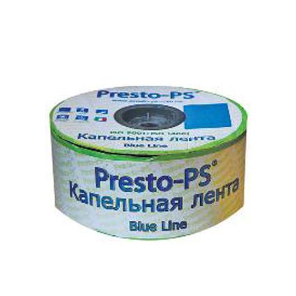 """Капельная лента """"Presto - Blue line"""" 500м, расстояние капельниц 10 см, 7mil"""