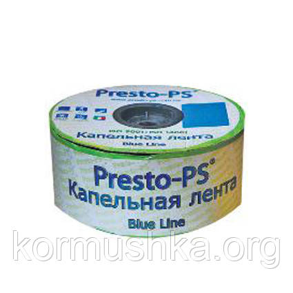 """Капельная лента """"Presto - Blue line"""" 500м, расстояние капельниц 15 см, 7mil"""