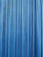 Шторы - нити однотонные простые голубой
