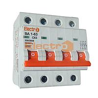 """Автоматический выключатель ВА 1-63 4п, С, 4,5 кА, 16А ТМ """"Electro"""""""