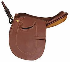 Седло конное для пони, кожаное