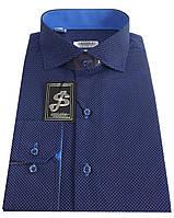 Рубашка мужская приталенная с принтом №S 55.4, фото 1