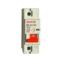 """Автоматический выключатель ВА 63-100 1п, D, 6кА, 80А ТМ """"Electro"""""""