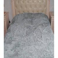 Плед с длинным ворсом меховой серый размер евро 220*240
