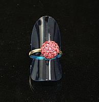 Кольцо шамбала,розовое