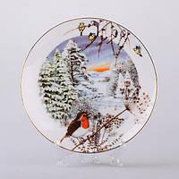 Декоративная тарелка Зимний пейзаж 20 см 85-1226