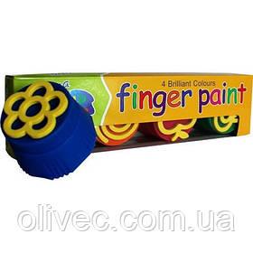 """Краски пальчиковые """"Leader"""" 4 цвета, 120 мл."""