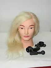 Болванка натуральный белый (парикмахерская учебная голова)