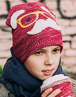 Шапка детская для мальчика трикотаж начес