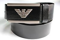 Брендовый черный ремень 'Giorgio Armani' 40 мм