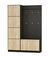 Мебель-Сервис Фантазия прихожая 150 2160х1504х439мм венге темный + дуб самоа