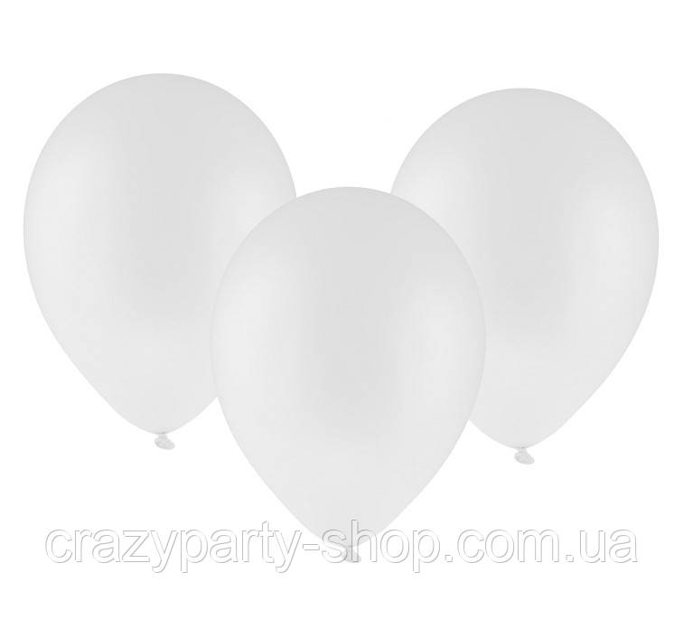 Шарик воздушный Белый 10 дюймов
