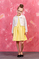 Детское платье с модной короткой накидкой, фото 1