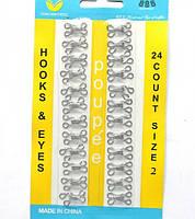 Крючки нитепрошивные блистер №2,4 оксид,никель