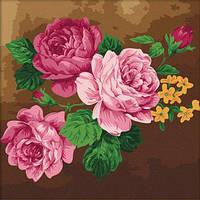 "Картина раскраска по номерам на холсте 40*40 см ""Цветы"" Munglei"